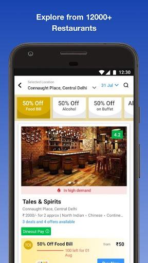 Dineout: Find Restaurants, get deals & cashback 9.7.2 screenshots 2