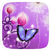 Gold Butterfly Theme Purple