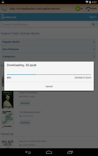 ePub Reader for Android 2.1.2 screenshots 21