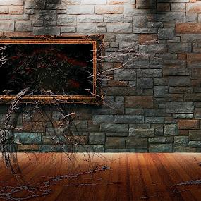 bloody RooM by Alex Alex - Digital Art Things ( canvas, bloody, blood, wall, room )