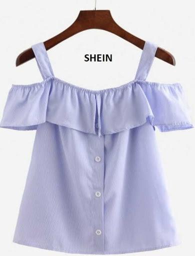 Blusa de tiras anchas con boleros alrededor del escote y la manga de SHEIN