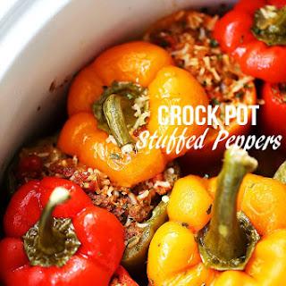 Crock Pot Stuffed Peppers.