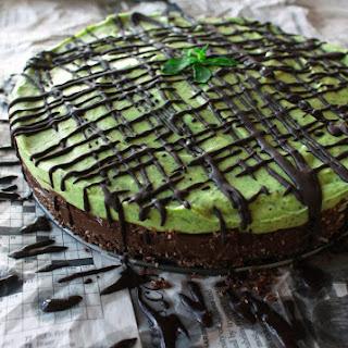 Raw Layered Mint Chocolate Mousse Tart (GF)