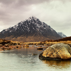 The Buachaille by Kenny Routledge - Landscapes Mountains & Hills ( scotland, mountains, glencoe, scottish highlands, the buachaille, scottish landscapes )