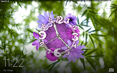 Flower Clock Live Wallpaper- screenshot thumbnail