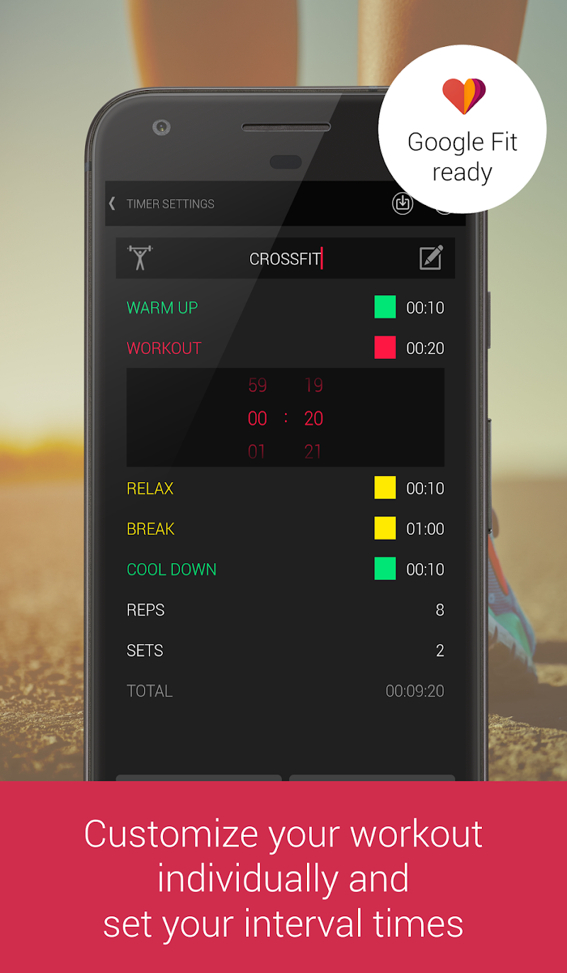 Tabata Interval Hiit Timer Apk Cracked Free Download Workouts Timers For And Circuit Training Are Included Screenshot 1