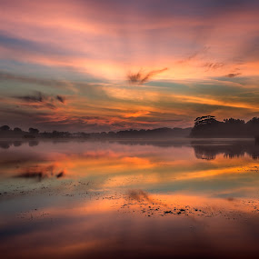 Epic sunrise by the lake by Mann Renzef - Landscapes Sunsets & Sunrises
