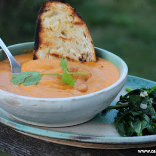 Curried Almond Sweet Potato Soup