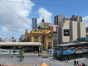 Photo: Flinders Street Station from Federation Square
