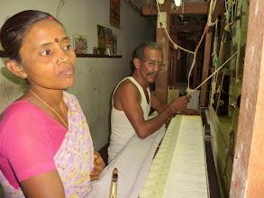 Photo: #012-Kanchipuram, un atelier de tissage