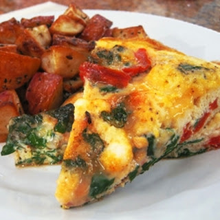 RecipeRed Pepper, Chard and Feta Frittata