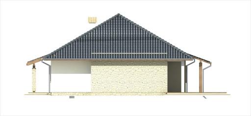 Antek III wersja B z pojedynczym garażem - Elewacja prawa
