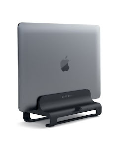 Satechi Aluminum Vertical Laptop Stand Matte Black