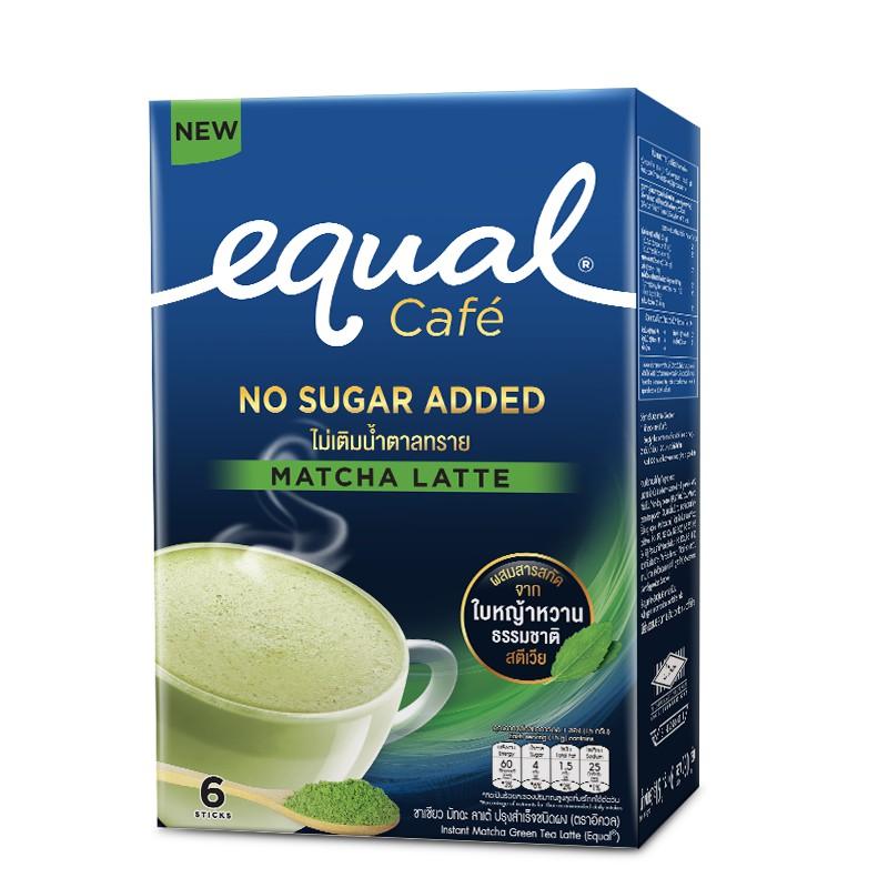 4. ชาเขียว Equal Matcha Green Tea Latte 6 Sticks