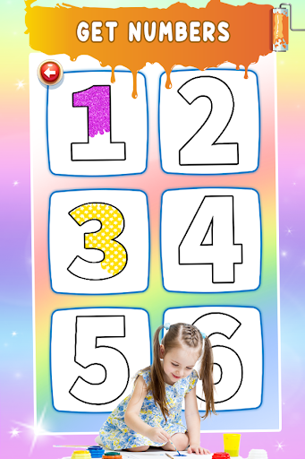 Glitter Number Coloring and Drawing Book For Kids 5.0 screenshots 2