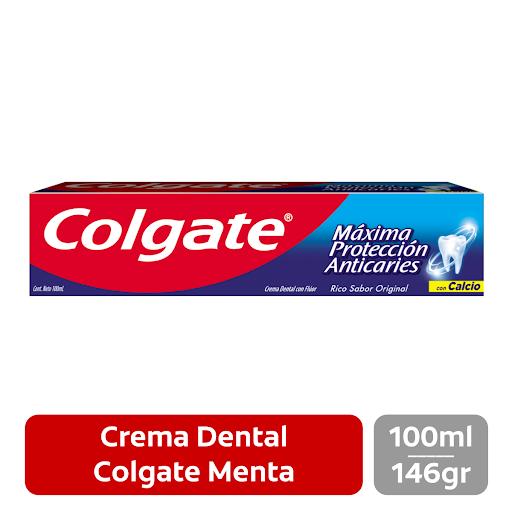 Crema Dental Colgate Menta 100Ml Consigue la sonrisa perfecta que tanto deseas gracias a la fórmula inigualable con la que está elaborada la crema dental máxima protección anticaries de Colgate.