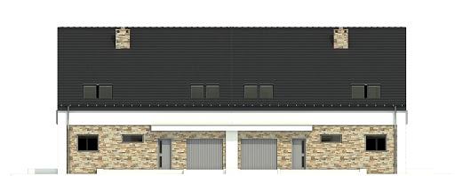 Bernikla II z garażem 2-st. bliźniak A-BL1 - Elewacja przednia