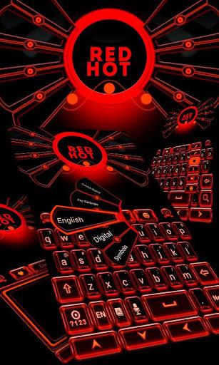 Red Hot Keyboard Theme