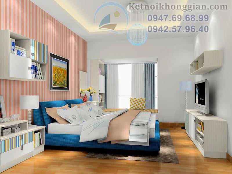 thiết kế phòng ngủ hiện đại hàn quốc