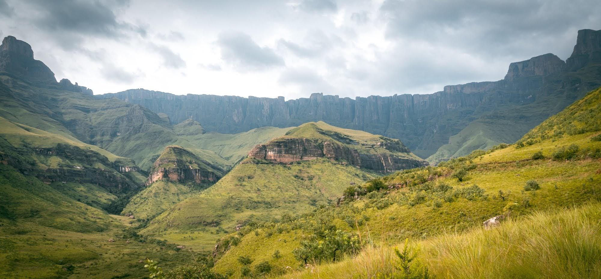 The amphitheater section of Drakensberg Mountain range