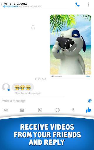 Talking Tom for Messenger screenshot 2