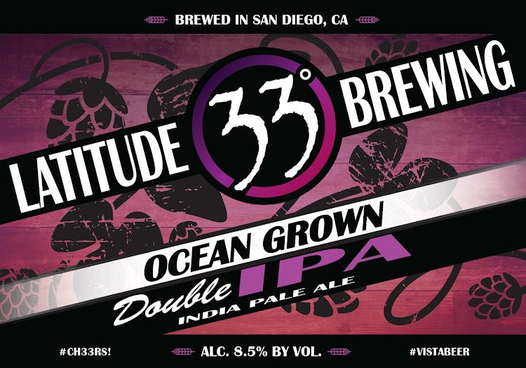 Logo of Latitude 33 Ocean Grown IIPA