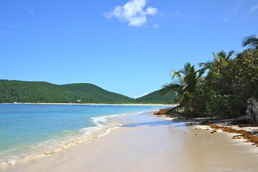 An isolated beach at Culebra Island in Puerto Rico.