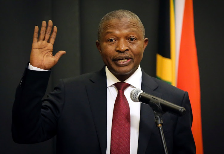 South Africa's deputy president David Mabuza addressed parliament on Tuesday.
