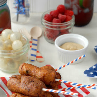 Mini Jalapeno Corn Dogs and Corn Dog Bites {gluten-free}