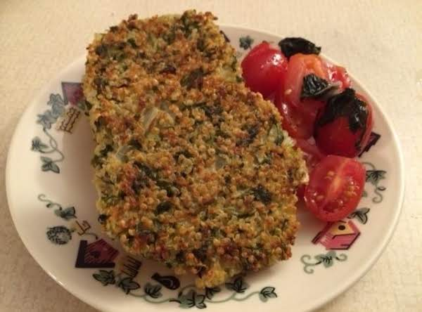 Quinoa And Kale Patties With Tomato Salad