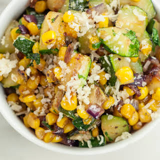 Loaded Southwest Corn and Zucchini Skillet.