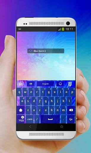 無料个人化Appのブルーバースト GO Keyboard 記事Game