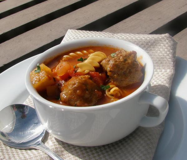 Minestrone Meatball Soup Recipe