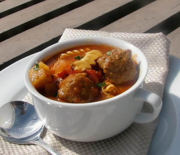 Minestrone Meatball Soup
