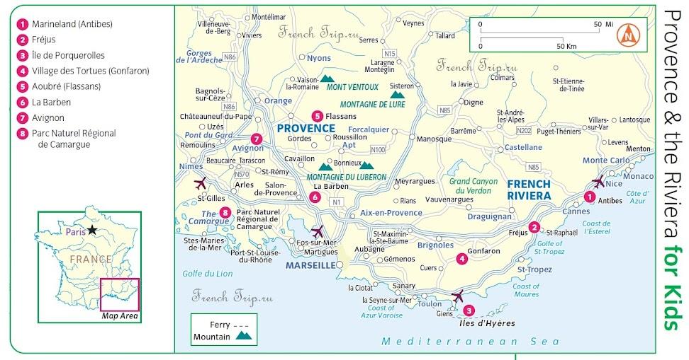 Что посмотреть с детьми в Монако и Провансе
