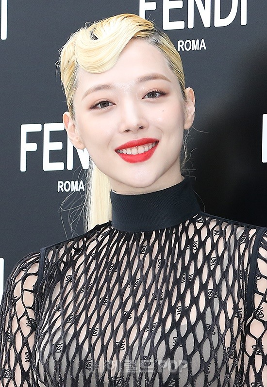 sulli seethrough dress 7