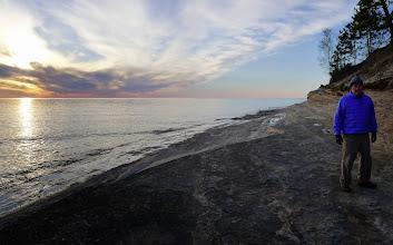 Photo: Sunset at Mosquito Beach with Doug.