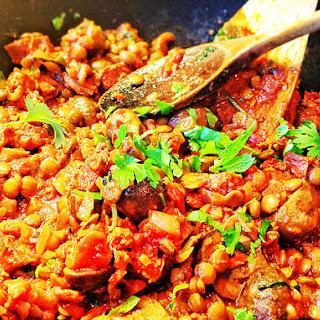 Spicy Breakfast Lentils with Mushroom and Vegan Chorizo Recipe
