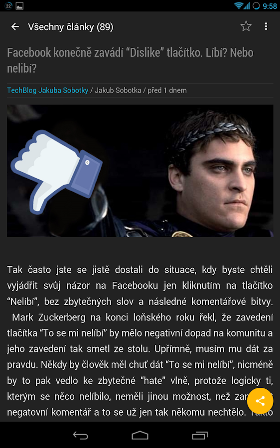 TechBlog Jakuba Sobotky- screenshot
