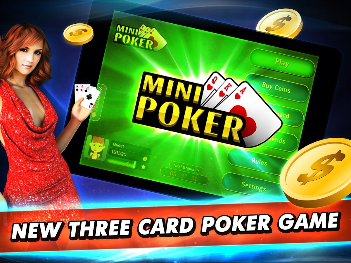 3 card poker game online