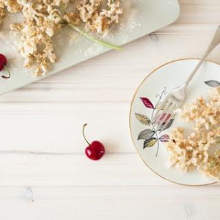 Elderflower Fritters With Cherries