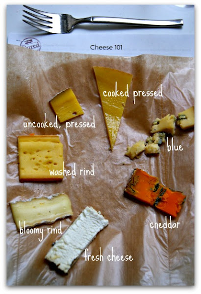 Photo: Types of cheese, Cheese 101 at Cured, Boulder, COhttp://laughinglemonpie.com/cheese-101-how-to-make-a-cheese-plate-for-a-dinner-party/