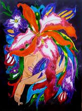Photo: 110, Нетронина Наталья, Пробуждение Весны, Витражные краски, контуры, фольгированный картон (витражные картины), 35х28см,