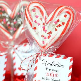 Valentine's Day Candy Cane Lollipop.