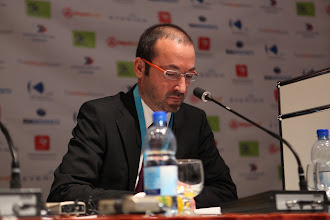 """Photo: Rui Martins moderating - """"Comms Associations' Mission Today""""- 2012"""