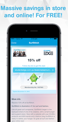 Student Edge Discounts & Deals - screenshot