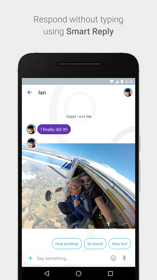 Google Allo comes up with ways for you to respond back to a recipient and lets you choose with a button