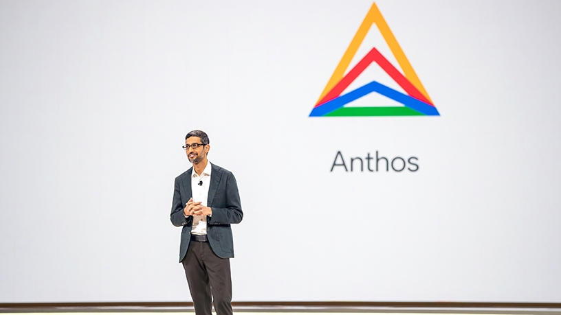 Google CEO Sundar Pichai at Google Cloud Next 2019.