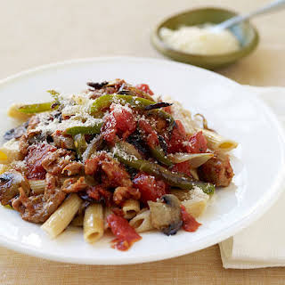 Penne with Peppers and Sausage.
