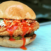 Buffalo Chick'n Sandwich w/ fries
